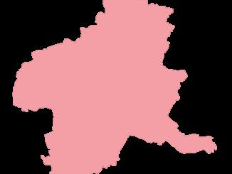 ピンク色の群馬県