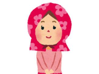 防災頭巾の女の子